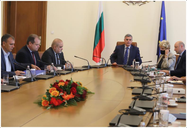 Премиерът Стефан Янев прие в Министерския съвет ръководството на Българската