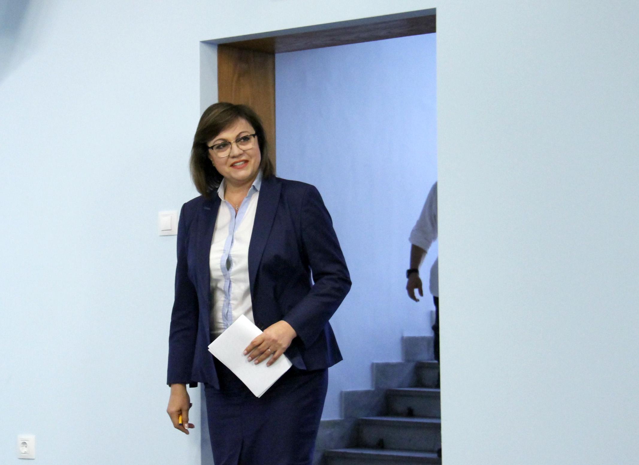 Лидерът на БСП Корнелия Нинова е дала положителен тест за
