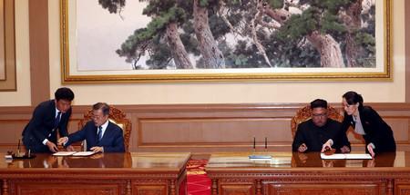 Ръководителите на Северна и Южна Корея Ким Чен Ун и