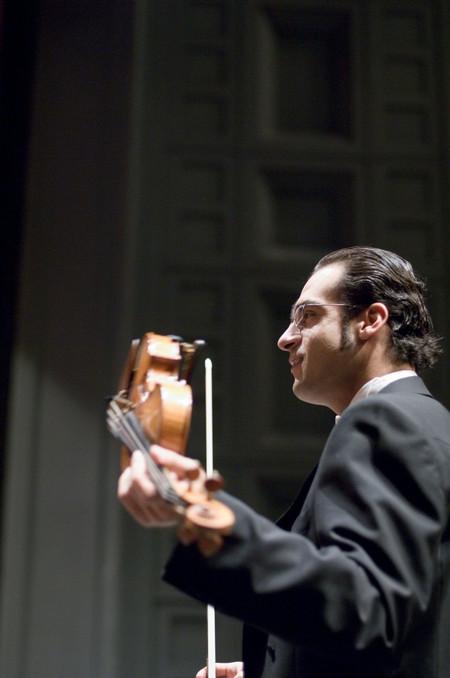 Концертмайсторът на Мюнхенската филхармония Мариан Краев, маестро Павел Балев и