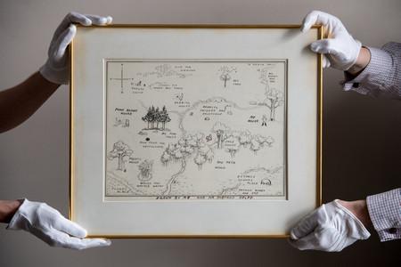 Рисунка на карта от 1926 г., изобразяваща въображаемия свят на