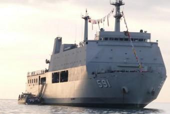Десантен кораб от типа Макасар, Снимка ВМС на Индонезия